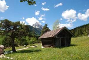 refuge dans les Alpes