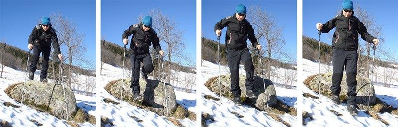 choisir-ses-bâtons-de-randonnée-franchissement-obstacle-descente