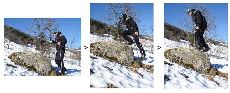 choisir-ses-bâtons-de-randonnée-franchissement-obstacle-montee