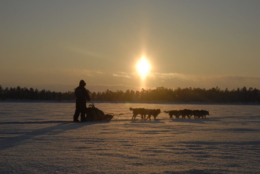 Pilier solaire laponie suédoise
