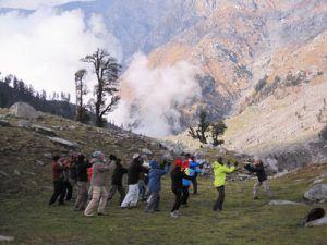 Séance de Qi Gong en Himalaya