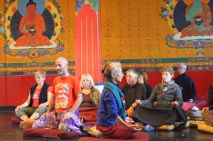 Séance de Qi Gong au temple d'Or