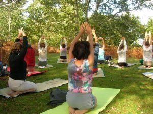 Séance de yoga en pleine nature