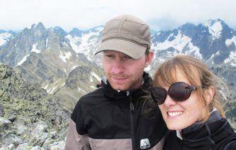 Tatiana et Romain au Mont Slavkoský en Slovénie lors de leur tour du monde