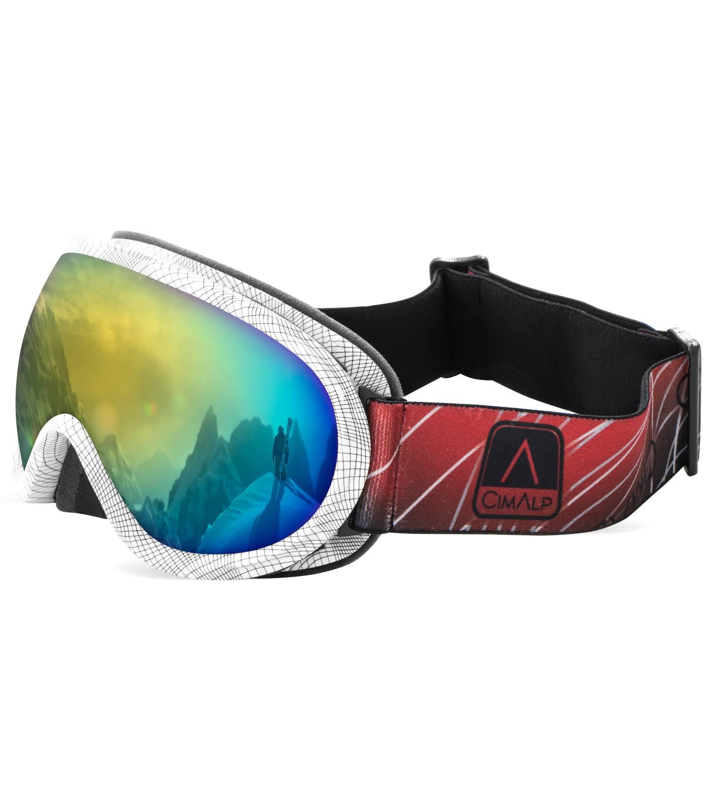 masque de ski forte luminosité