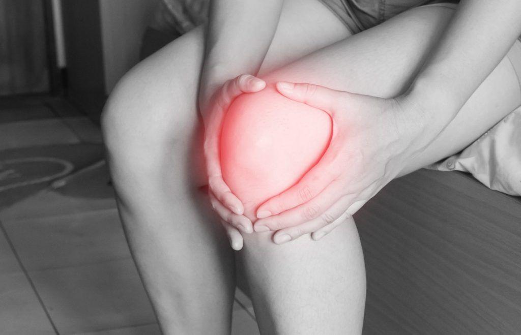 mal au genou en descente