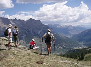 trekking dans les alpes