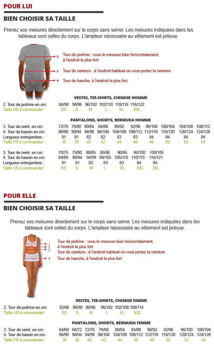 Guide des tailles Cimalp